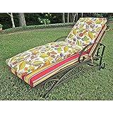 Blazing Needles Outdoor Patio Chaise Lounge Cushion - Freeport Ebony