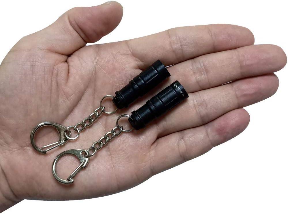 MINI aluminium 7 LED KEY RING KEYRING TORCH WITH FLASHLIGHT POCKET batteries inc