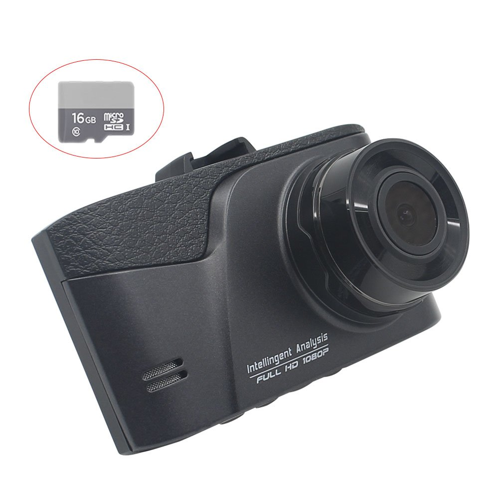 Dash Cam for Cars with Night Vision, 3.0'' Screen Full HD 1080P Dashboard Camera for Cars with 16GB MicroSD Card,170 Degree Wide Angle with G-sensor, Loop Recording, LYNIFY Vanward Car DVR
