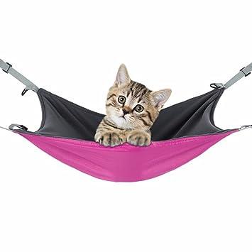 JLFAIRY Pet Cat Cage Hamaca Colchoneta De Cama para Mascotas Pequeñas Reversible 2 Lados Perro Suave Sleepy Pad Hamacas Conejo Hamster Cama Colgante: ...