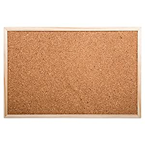 office works wood cork board 18 x 12 inches beige office products. Black Bedroom Furniture Sets. Home Design Ideas