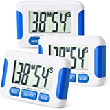 Mudder Magnetic Digital Kitchen Cooking Timer with Loud Alarm and Big Screen, 3 Pack (Blue)