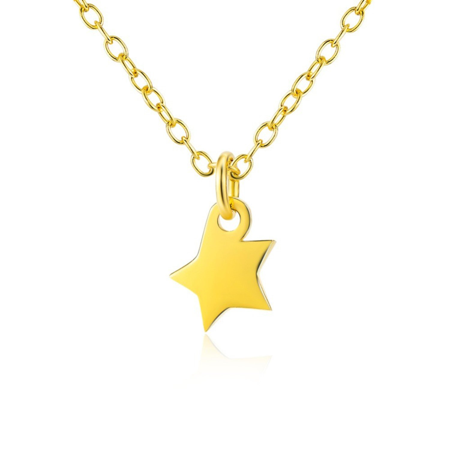 CS-DB Womens Necklaces by Silver Pendant Jewelry Gold Color Moon And Star Charm Girls
