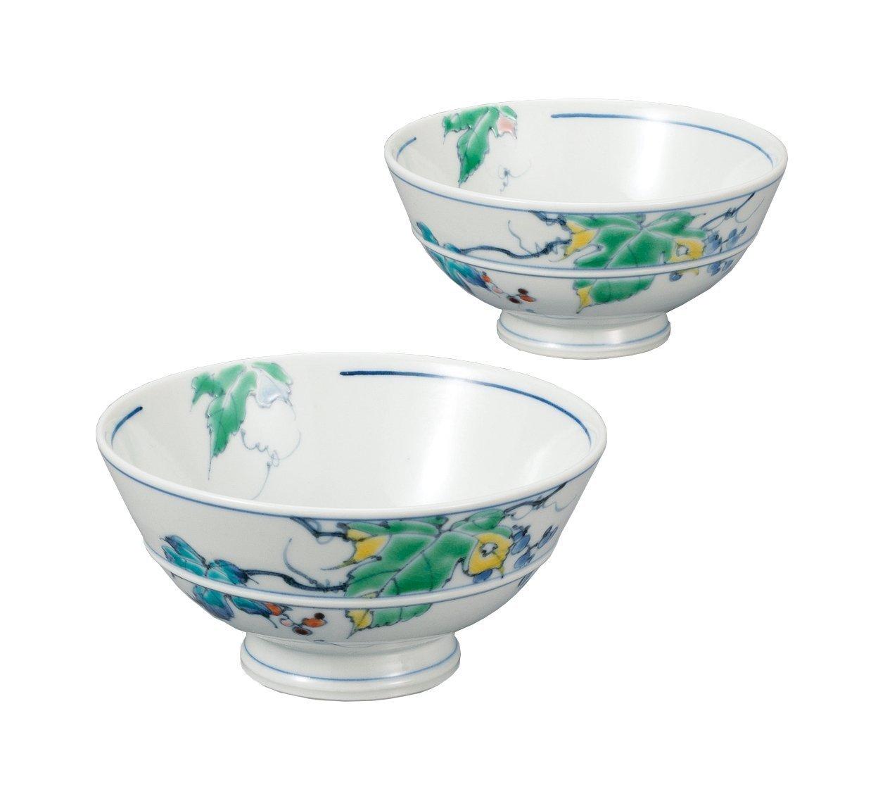 KUTANI Ware Ricebowl Color pattern Grape