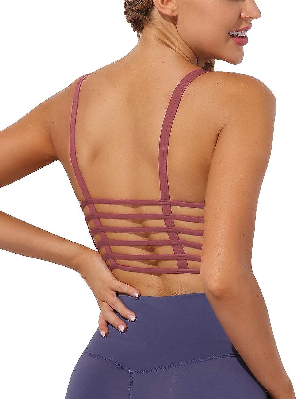 Women Yoga Tops Padded Bra Crop Sportswear Fitness Workout Tank Vest Running