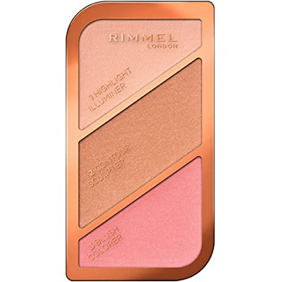 Rimmel London Kate Sculpting Palette Paleta de Maquillaje Tono 1 Golden Sands, 18,5 g