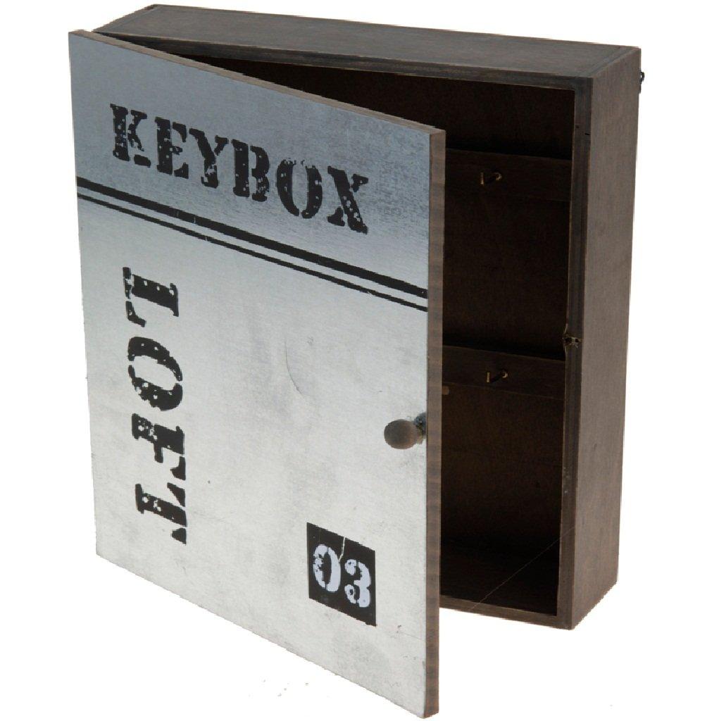 Schlüsselkasten Schlüsselbrett Holz Nostalgie Schlüsselschrank ...