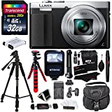 Cheap Panasonic DMC-ZS50S LUMIX 30X Travel Zoom Camera with Eye Viewfinder Silver + Transcend 32 GB Class 10 + Polaroid 57″ Tripod + 12″ Tripod + Flash + Battery & Charger + Bag + Cleaning Kit + Accessories