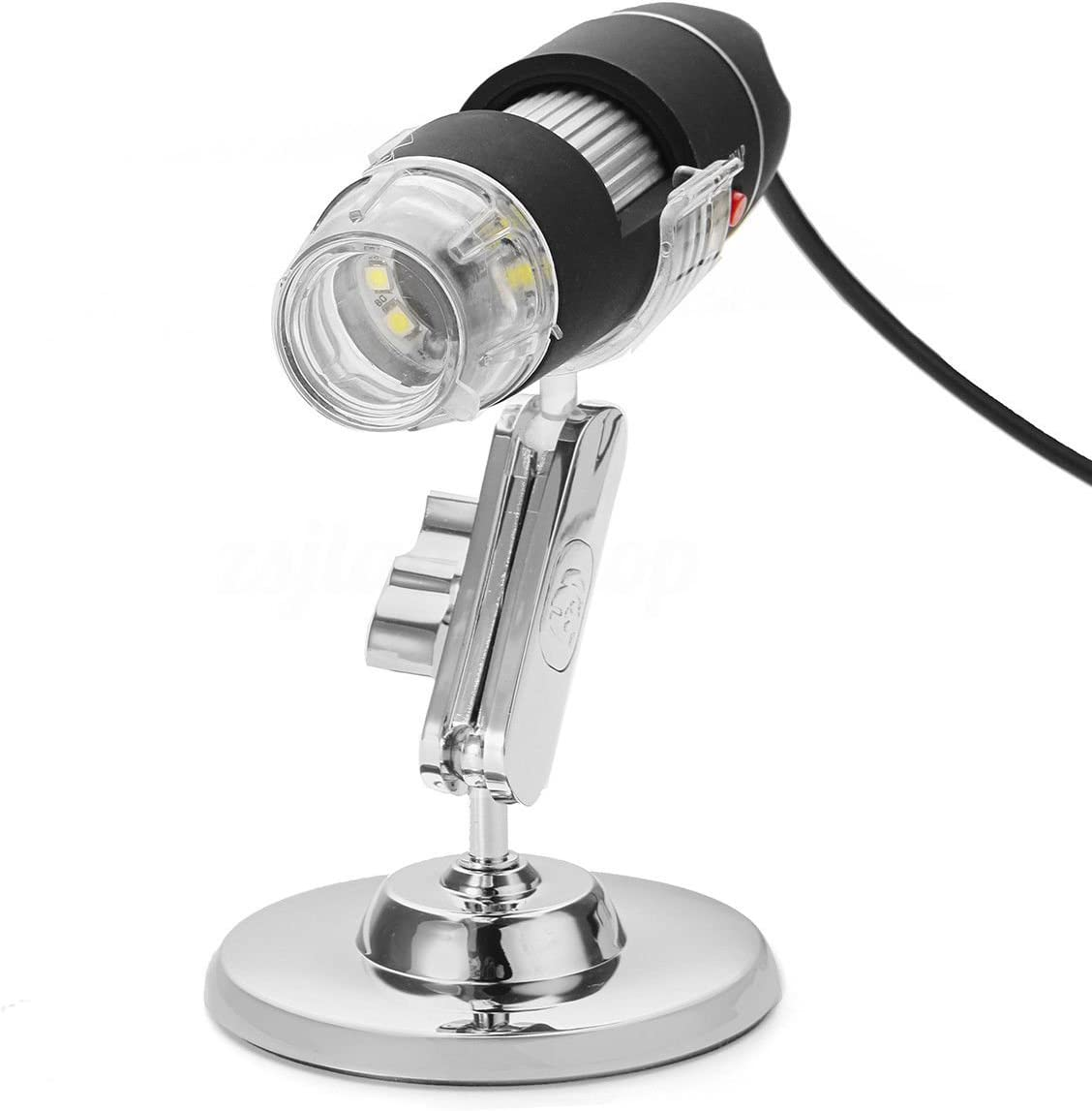 Kqiang USB Digital Microscope 1080P 50 to 1600X Handheld Mini USB Microscope Industrial Grade HD Magnification with 8 LED Lights Support USB2.0 Compatible with Windows Mac Andriod