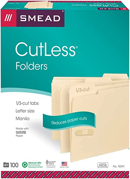 "Pendaflex File Folders 1//3-Cut Ta... Letter Size 8-1//2/"" x 11/"" Classic Manila"