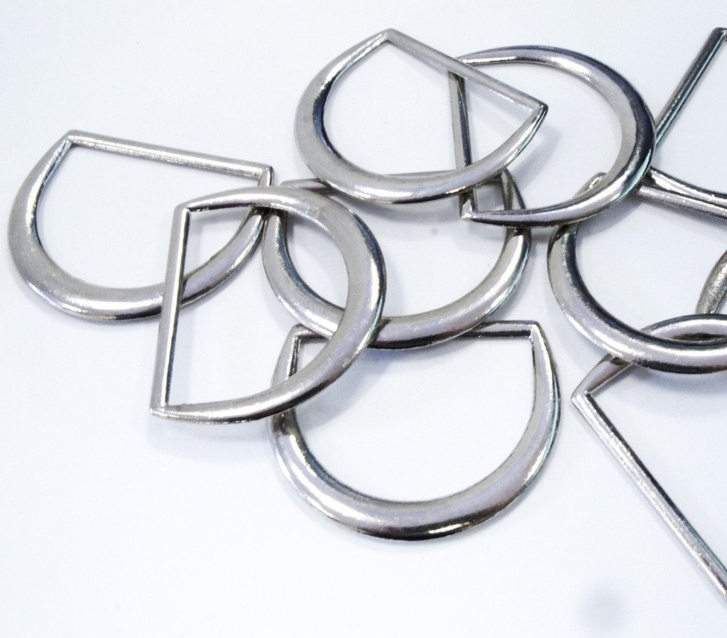HAND ® D-Ring-Silber Schnallen elegante Form-Handtaschen Gürtel ...