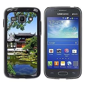 Be Good Phone Accessory // Dura Cáscara cubierta Protectora Caso Carcasa Funda de Protección para Samsung Galaxy Ace 3 GT-S7270 GT-S7275 GT-S7272 // Architecture Pond Nature Building