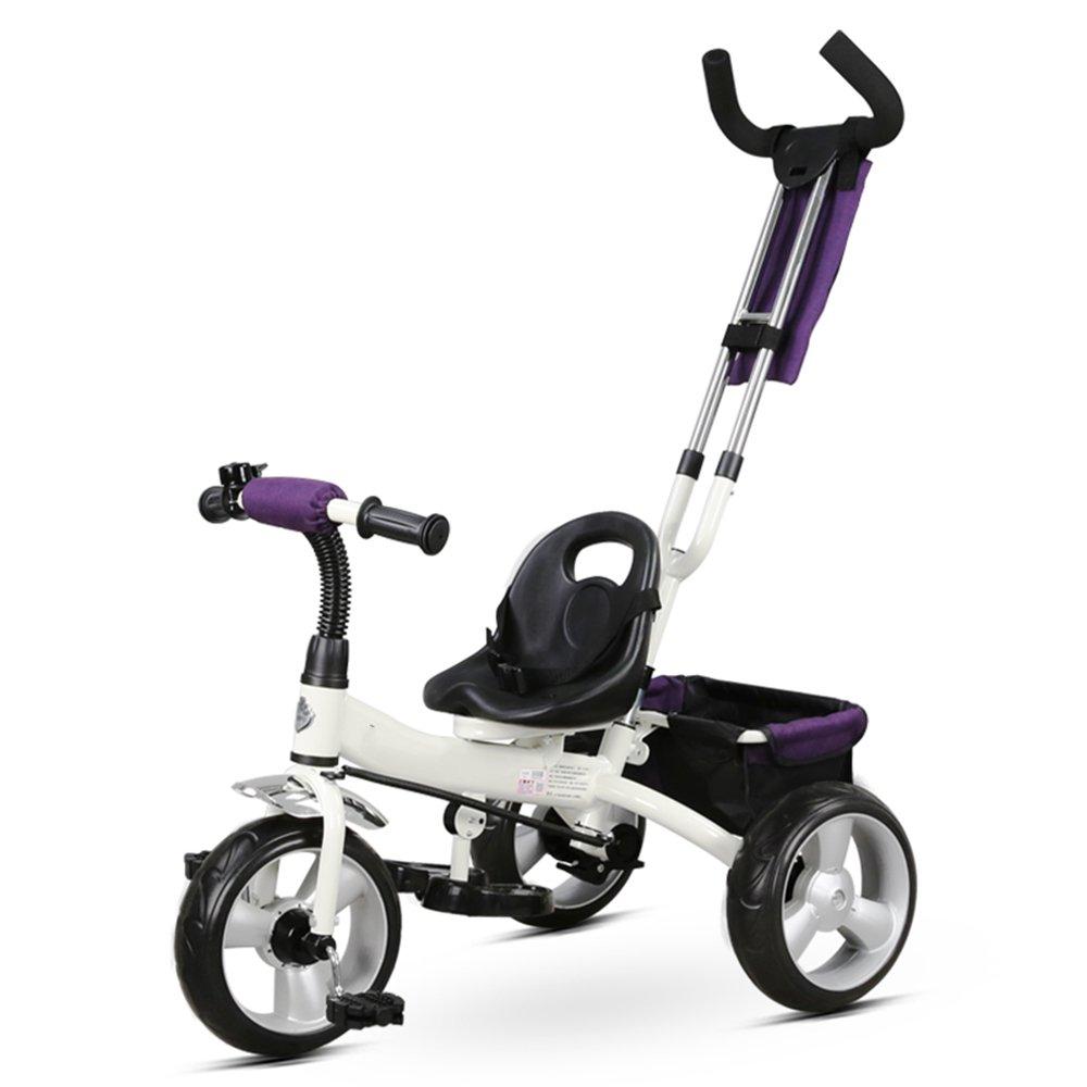 HAIZHEN マウンテンバイク 子供用三輪車、取り外し可能なプッシュハンドル付き3輪幼児子供用ペダルトライクバイクに乗る18ヶ月から5年 新生児 B07C6WS86C 白 白