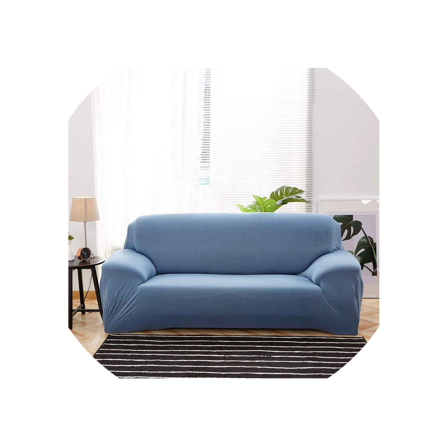 Amazon com solid color sofa cover 1 2 3 4 seater slipcovers all inclusive couch case modern elastic polyester chair furniture protector34 seat 230 300cm