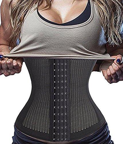 DODOING Workout Body Waist Trainer Long Torso Underbust Corset for Weight Loss