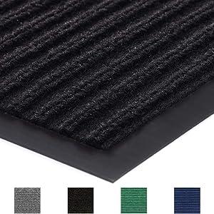 Gorilla Grip Original Commercial Grade Rubber Door Mat, 35x23, Heavy Duty, Durable Doormat for Indoor and Outdoor, Waterproof, Easy Clean, Low-Profile Mats for Entry, Patio, High Traffic, Black