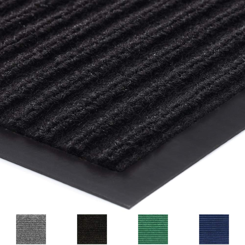 Gorilla Grip Original Commercial Grade Rubber Floor Mat, 29x17, Heavy Duty, Durable Doormat for Indoor and Outdoor, Waterproof, Easy Clean, Low-Profile Mats for Entry, Patio, High Traffic, Black