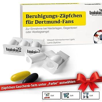 Beruhigungs-Zäpfchen® für Dortmund-Fans | Lakritz-Zäpfchen für Dortmund-Fans zur Einnahme bei Niederlagen, Gegentoren & Absti