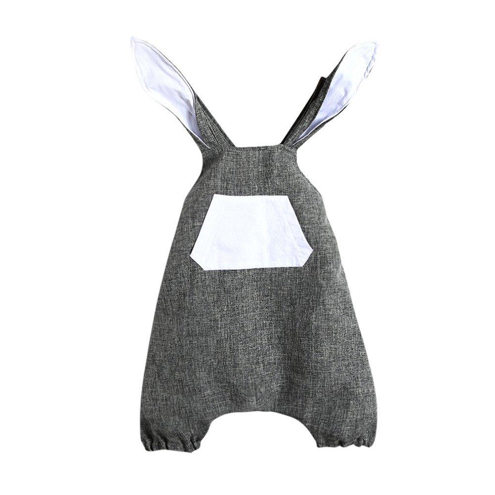 Abiti Ragazza BANAA Neonato Carino Vestito Bambino Senza Schienale Easter Bunny Ears Casual Infant Ragazze T-Shirt Floreale Ruffles Vestiti Bambina Happy Easter Regalo Creativo Coniglietti Costume