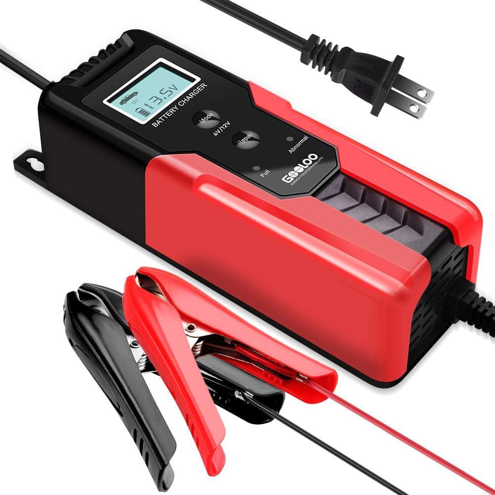 GOOLOO 6V/12V Smart Battery Charger