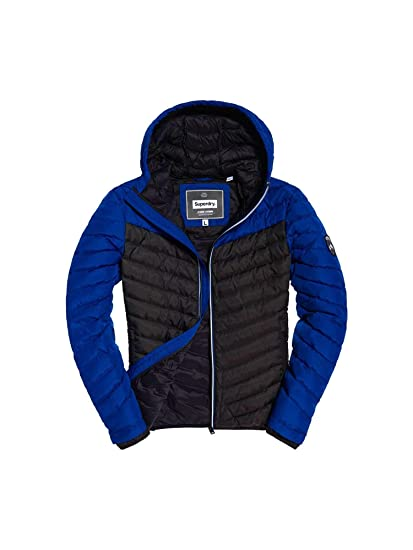 1ec698facd59b3 Superdry M50004WR Down Jacket Man Blue L: Amazon.co.uk: Clothing