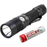 ThruNite TC12 V2 Max 1100 Lumen Micro-USB Interface Rechargeable Tactical LED Flashlight with CREE XP-L LED &18650 Battery Included