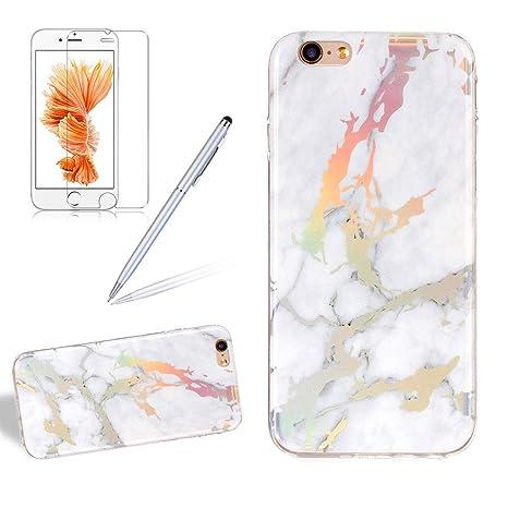Amazon.com: Girlyard - Carcasa de mármol para iPhone 6 y 6S ...