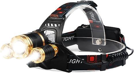 OBOSOE Linterna Frontal LED Cabeza con Batería 4 Modo Linterna ...