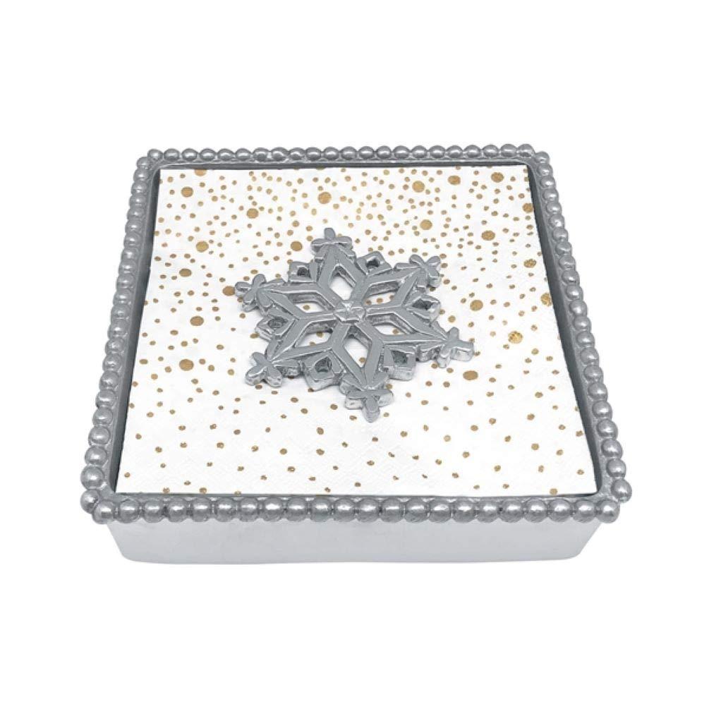 Mariposa Open Snowflake Beaded Napkin Box With Napkins - 4231 - C by MARIPOSA