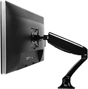 FLEXIMOUNTS Desk Monitor Mount,Full Motion Single LCD Arm for 10-27 inches Flat Screen