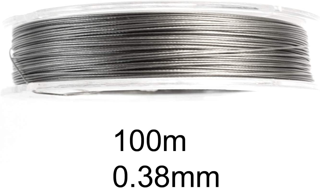 Jewelry Wire Necklace Wire Craft Wire Beading Wire Stainless Steel Wire 0.4 Green Wire Tiger Tail Beading Supplies Green Cord 100m