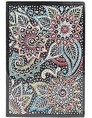 Exanko DIY 5D bloem speciaal gevormde 60 pagina's A5 notebook dagboek boek