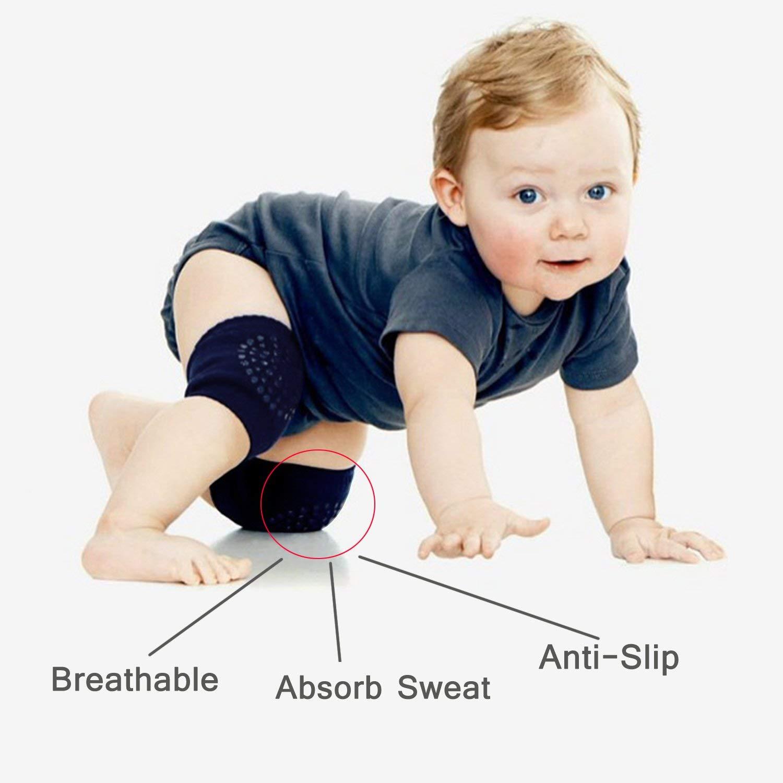 para beb/és y ni/ñas Rodilleras antideslizantes para beb/é con puntos de goma 6 pares 0 a 3 a/ños BETOY