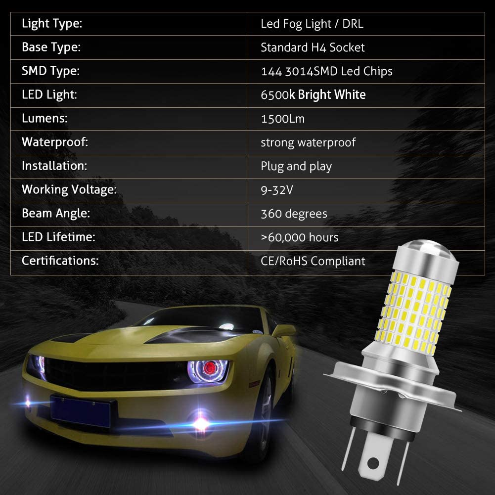 KATUR 1157 BAY15D 7528 1016 LED Bulb High Power 3014 Chips Extremely Bright 3000 Lumens 6500K Xenon White Replace for Back up Reverse Brake Tail Turn Signal Lights, Pack of 2