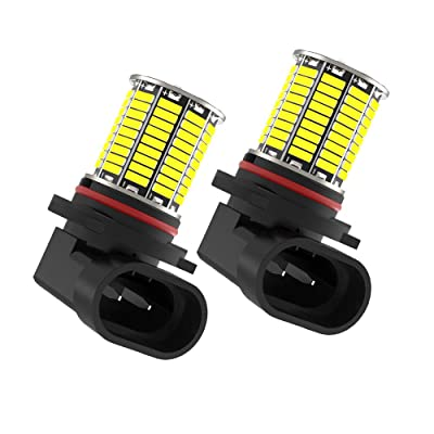 CATO-WDJ H10 9145 LED Fog Light Bulbs, bright 6000k 2000LM White light 108smd 3014 chipset, 9145 9140 9045 9040 Led Bulbs Fog Light or DRL Lights for Cars Trucks, 1 Pair: Automotive