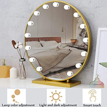 Led Makeup Mirror Hollywood Style Dressing Table Mirror Makeup Light With Dimmable Light Bulb Adjustable Three Light Modes 10 Adjustable Brightness Touch Dimmer With Charger Amazon Co Uk Kitchen Home