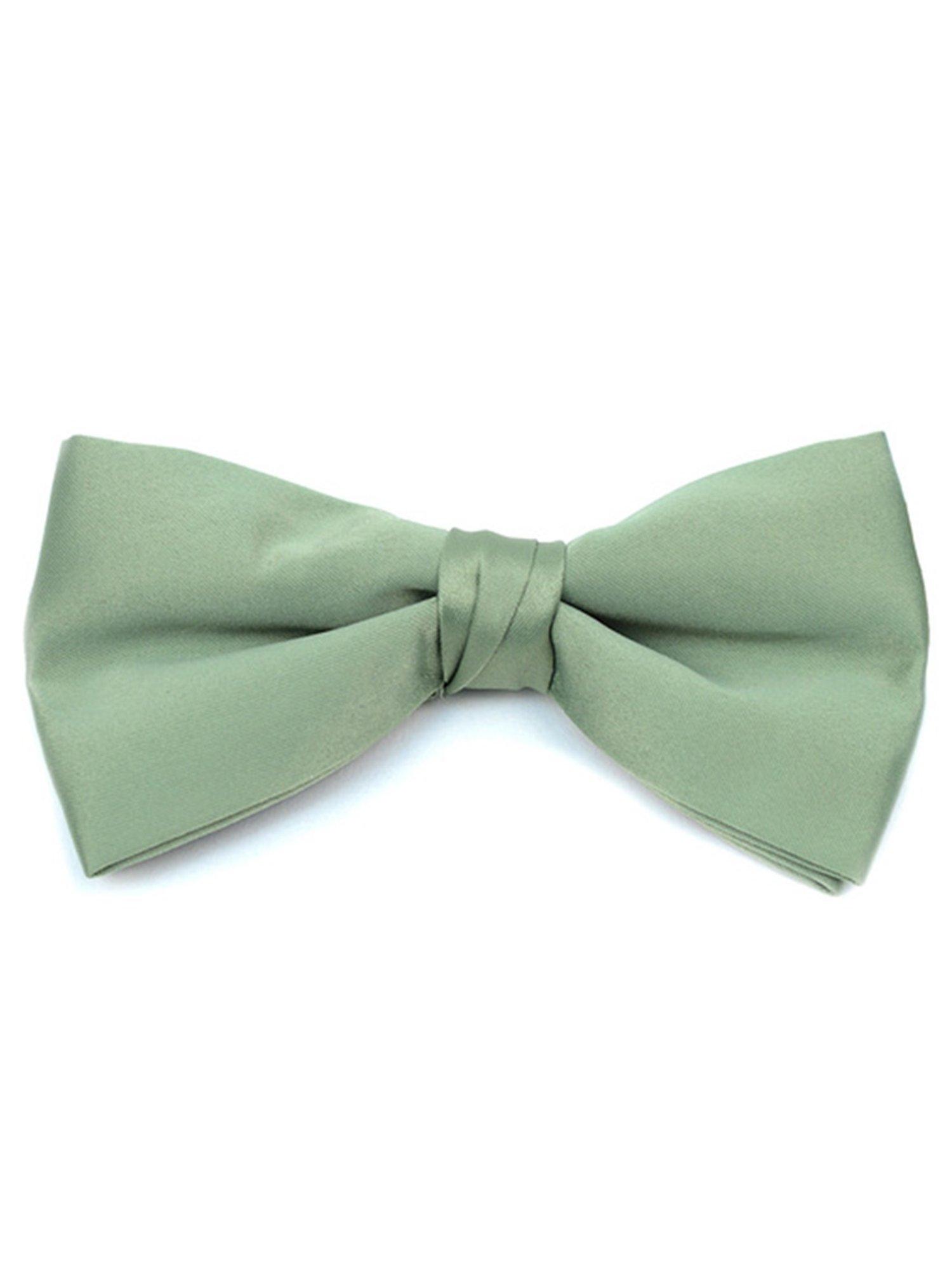 Young Boy's Sage Pre-tied Clip On Bow Tie - Formal Tuxedo Solid Color