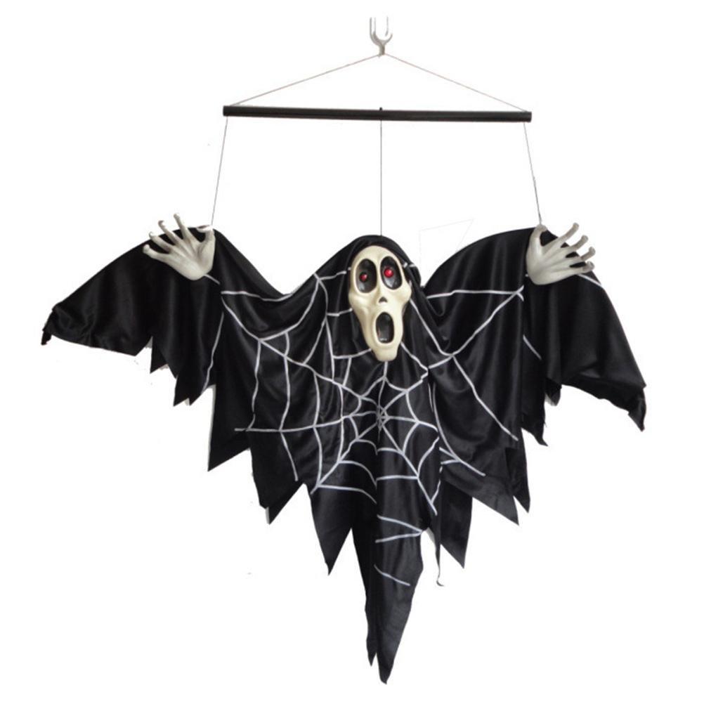 selección larga Trajes de ropa de de de Halloween El bar está decorado Voz de control eléctrico murciélago Fantasmas colgantes 56  25  13 cm  gran descuento