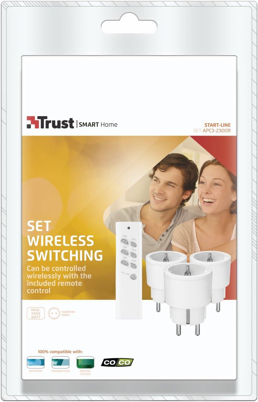 max. 2300 Watt Trust Smart Home 433 Mhz Kompaktes Funkschalter-Set ACC3-2300R