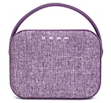 GabbaGoods Premium Bluetooth Wireless Fabric Speaker, HD High Definition Sound Quality, Hands free calls, 6.5'' size. Home, Travel, Outdoor, and Indoor. Loud Bass Party Speaker- Lavender