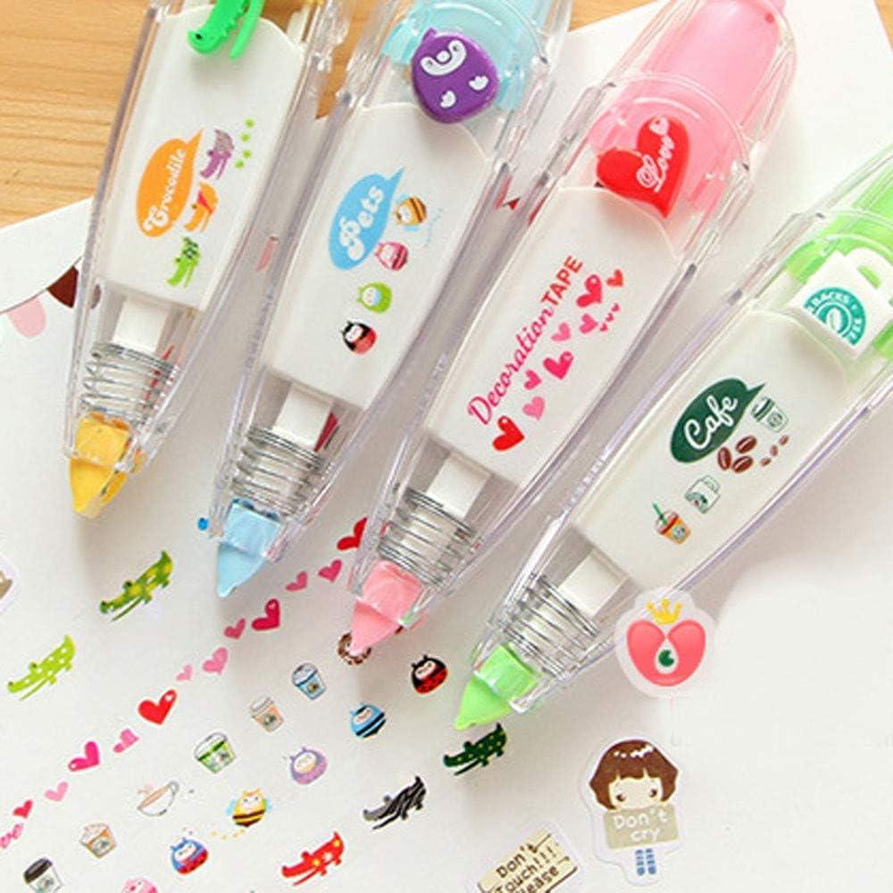 Lustige Schreibwaren Korrektur Roller Geschenke f/ür Studenten Keepwin Cute Push Korrekturband zuf/ällig