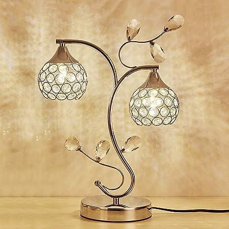 WJMLS Bola de Cristal lámpara de Mesa, Cromo: Amazon.es: Hogar