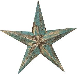 Rustic Arrow 12331 Wooden Blue Star, Multicolor