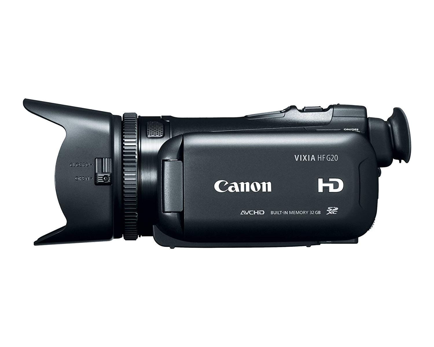 Canon VIXIA HF G20 Camcorder with 10x HD Video Lens (30.4mm-304mm), 3.5'' Touchscreen LCD, HD CMOS Pro and 32GB Internal Flash Memory (Renewed) by Canon
