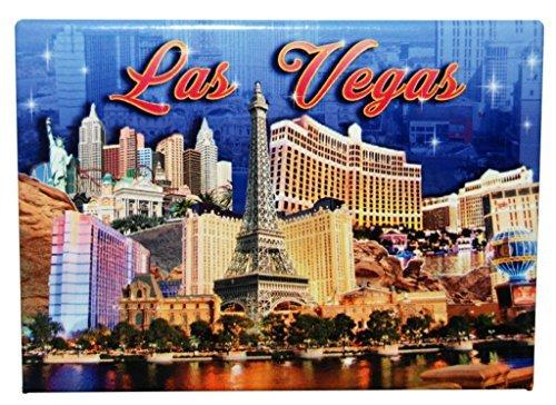 Las Vegas Blue Skyline Refrigerator Magnet