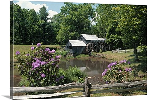 Canvas on Demand Premium Thick-Wrap Canvas Wall Art Print entitled Mabry Mill, Blue Ridge Parkway 36