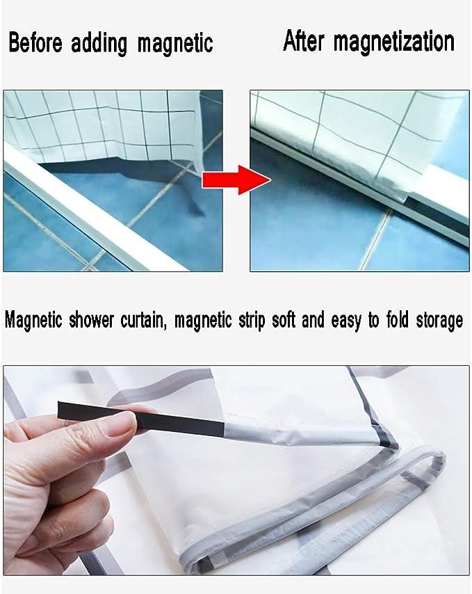 DCAH Barra de La Cortina de Ducha, Sistema de Tira Magnética