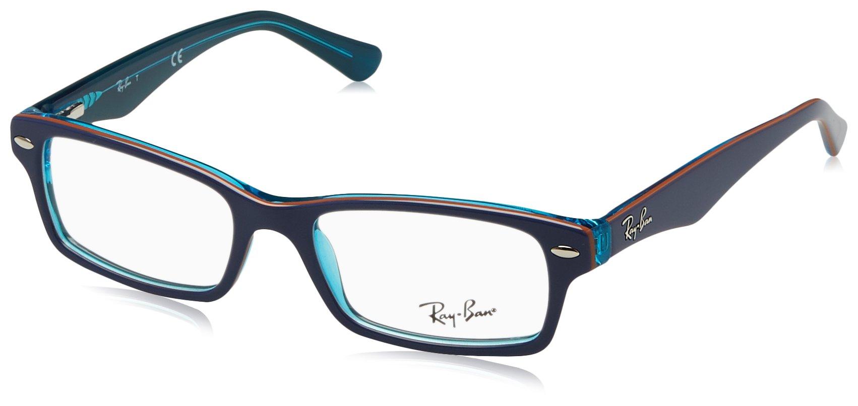 Ray Ban Junior RY1530 Eyeglasses-3587 Top Blue on Azure Transparent-46mm