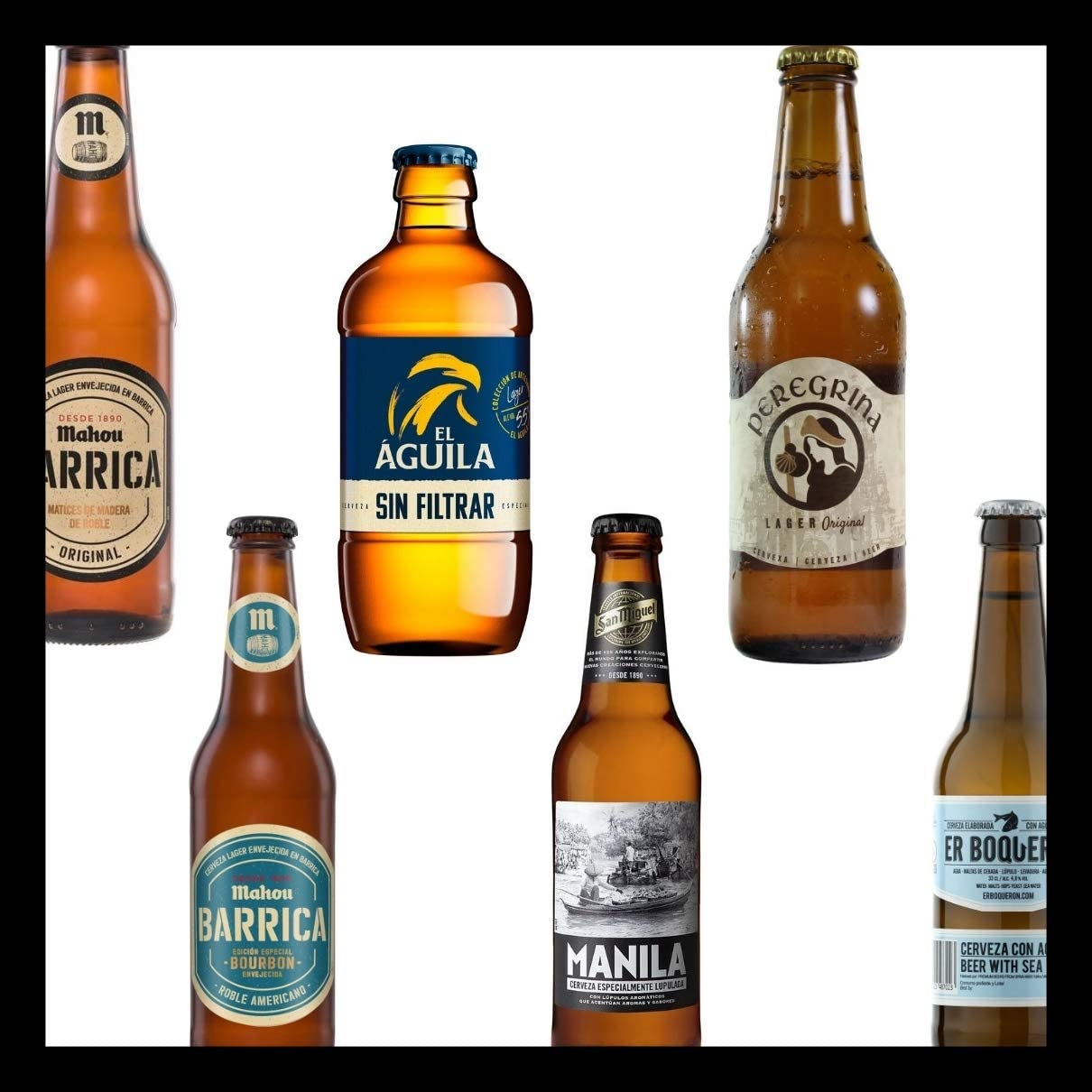 Pack de Cervezas Originales Mahou Barrica 33cl - mahou Barrica ...