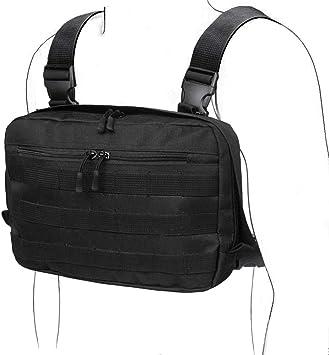 WYNEX Tactical Chest Rig Bag, Recon Kit Bags Combat EDC Front Pouch para Wargame: Amazon.es: Deportes y aire libre